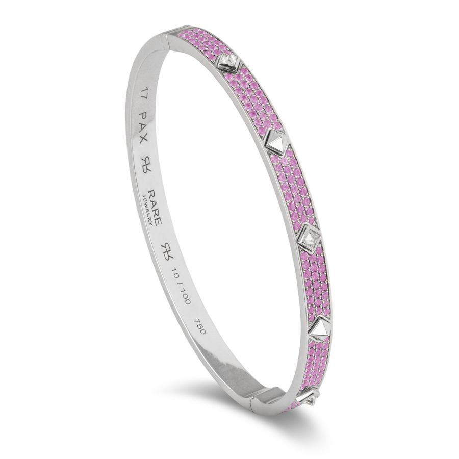 Pax armband pavé rosa safirer 100.141WG