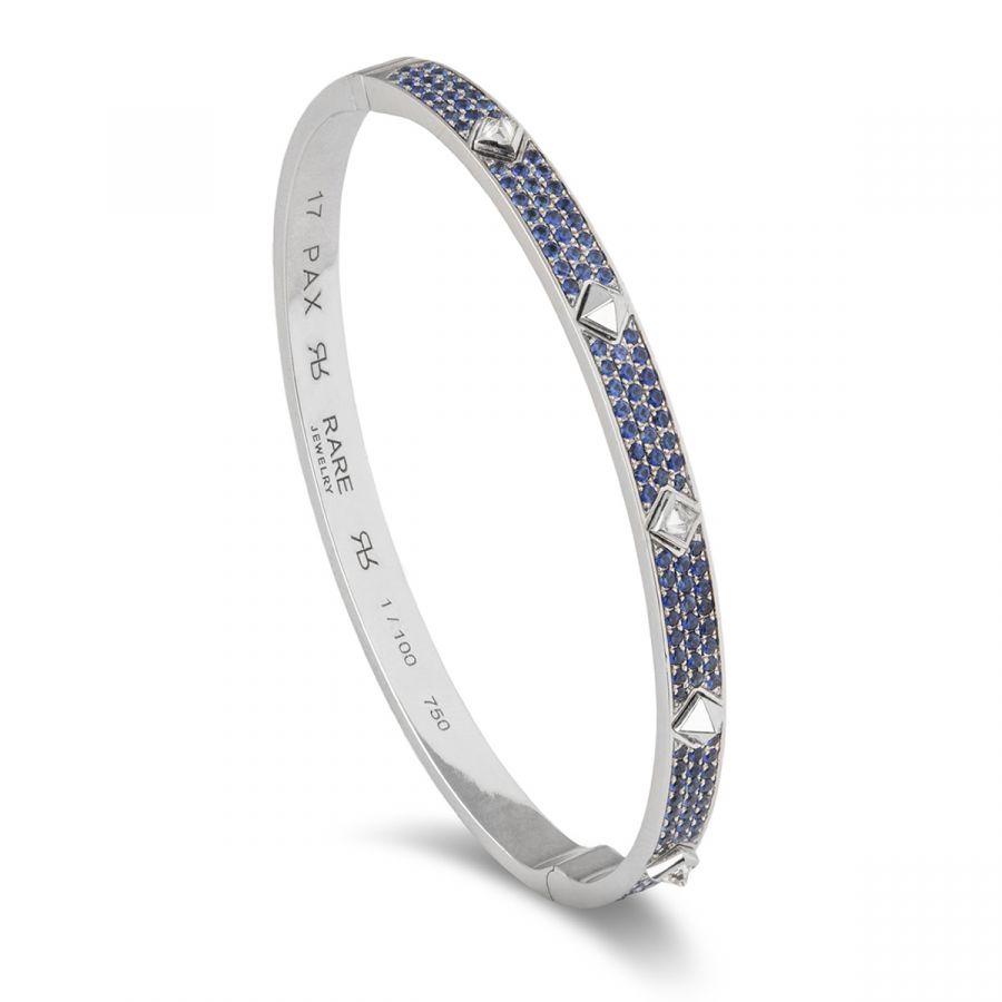 Pax armband pavé blå safirer 100.151WG