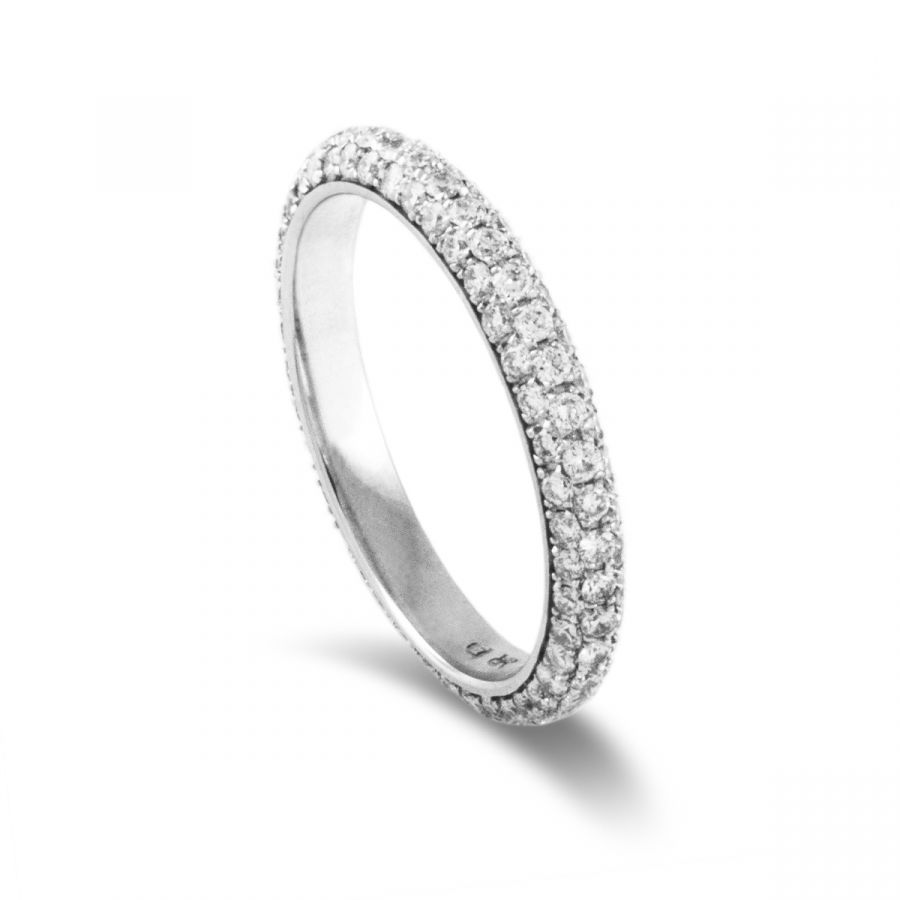 Eternity ring pavé 404AWG