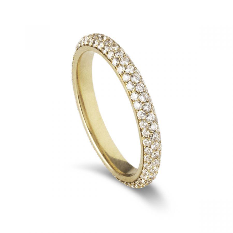Eternity ring pavé 404AYG