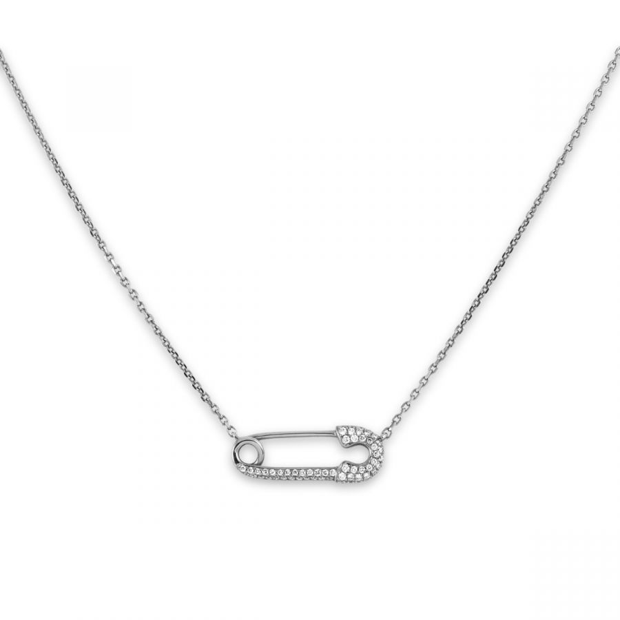 Safety Pin Halsband 0,20 ct