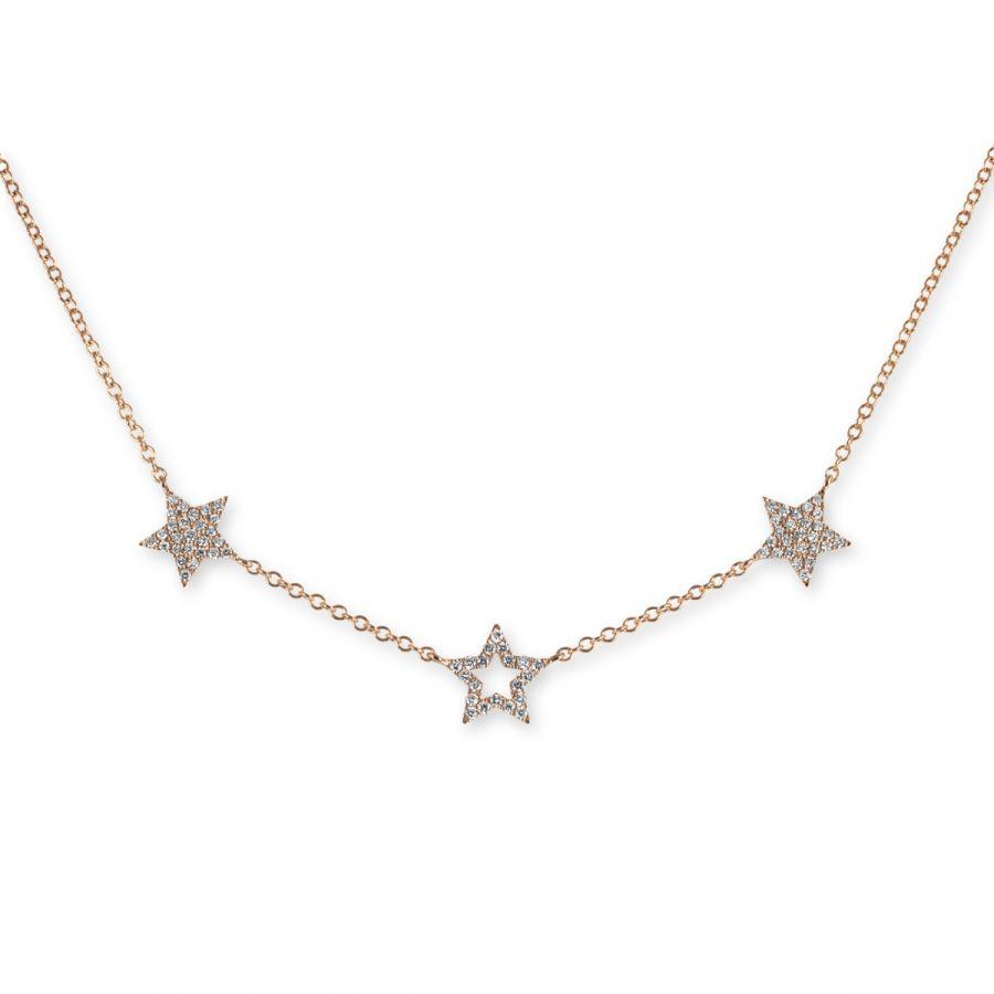 Stjärn Halsband 0,32 ct