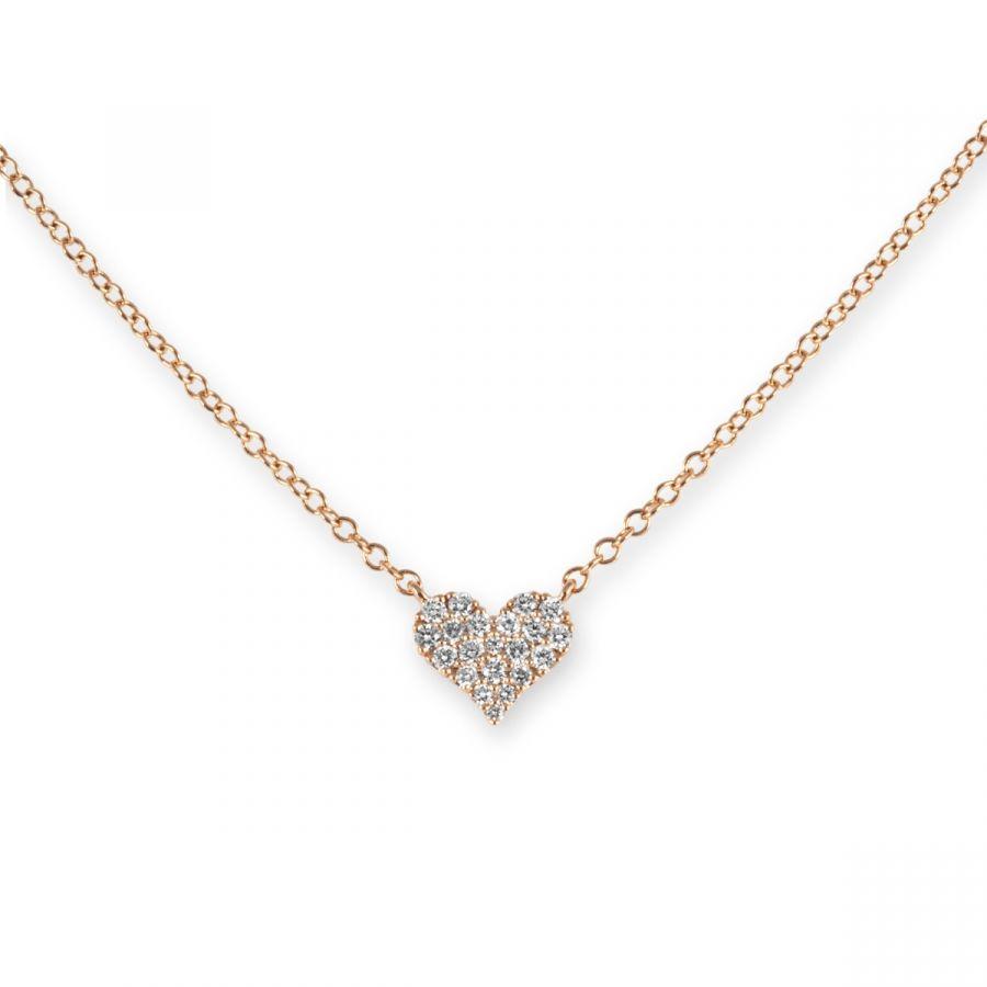 Hjärt Halsband 0,16 ct
