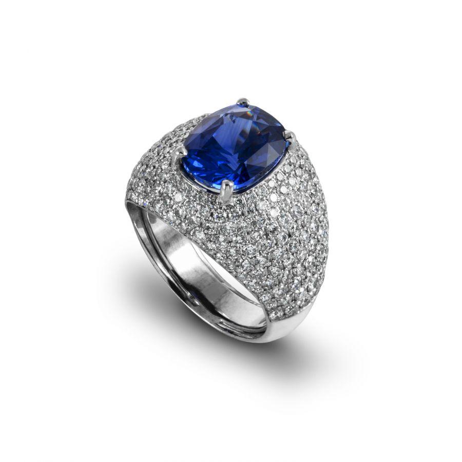 Rare Cut Safir Ring 2,75 ct